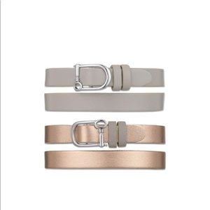 Rose Gold & Silver Double Wrap Bracelet